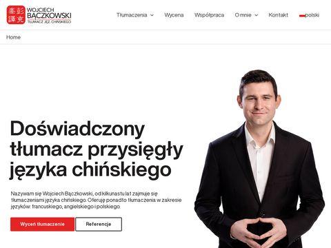 Baczkowski.pro tłumacz chińskiego