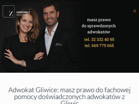 Zdanowiczadwokaci.pl adwokat Gliwice