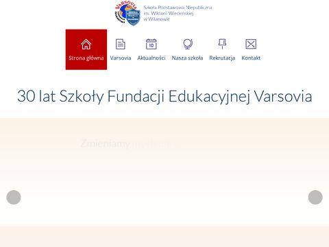 Wilanow.varsovia.edu.pl szkoła podstawowa