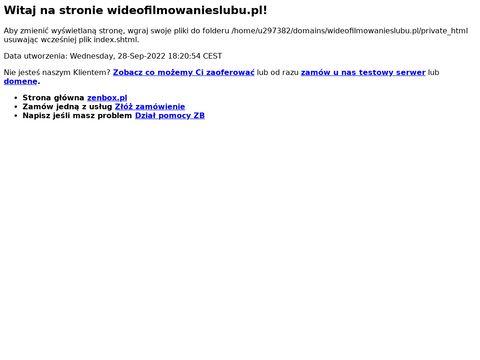 Wideofilmowanieslubu.pl w Warszawie