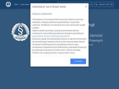 Prawnik-zamosc.pl kancelaria Michał Wierzchowski