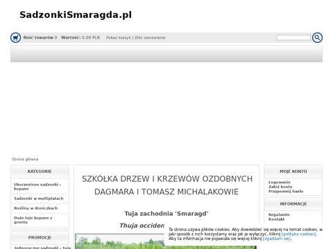 Sadzonkismaragda.pl tuje szmaragdowe