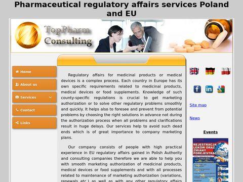 TopPharm eCTD rejestracja leków i suplementów