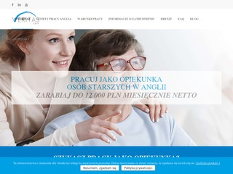 Veritas-care.pl dam pracę w Anglii