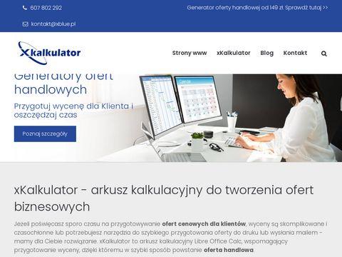 Xblue.pl wzory wycen