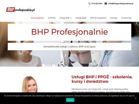 Bhpprofesjonalnie.pl usługi w Warszawie
