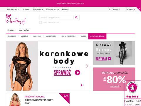 E-lady.pl biustonosze majtki damskie