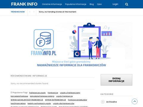 Frankinfo.pl kancelarie dla frankowiczów