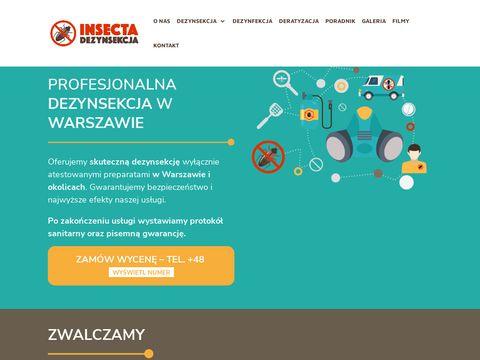 Insecta - zwalczanie pluskiew Warszawa