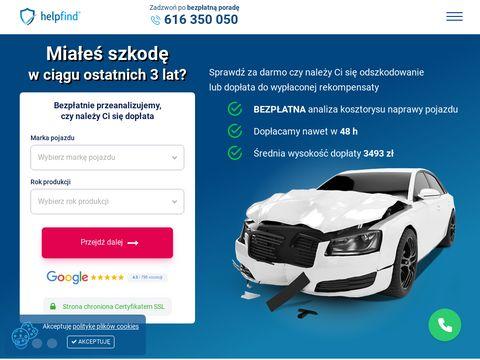 Helpfind.pl pomoc przy uzyskaniu odszkodowania
