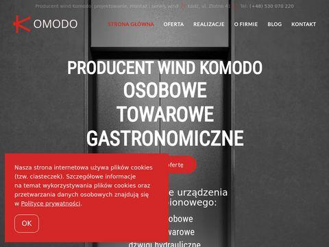 Komodo - windy osobowe i towarowe serwis