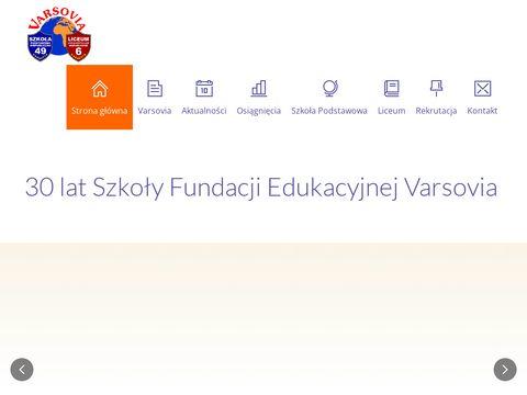 Varsovia.edu.pl prywatna szkoła podstawowa