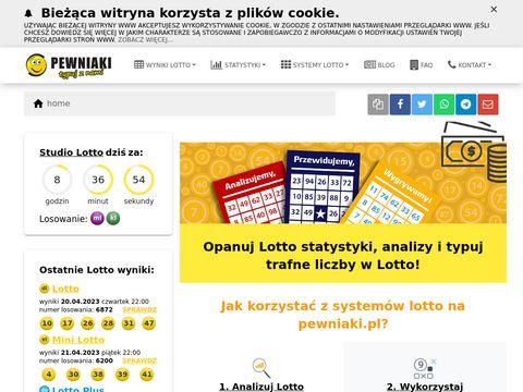 Pewniaki.pl wyniki Lotto