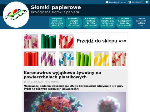 Webinspire słomki papierowe do napojów