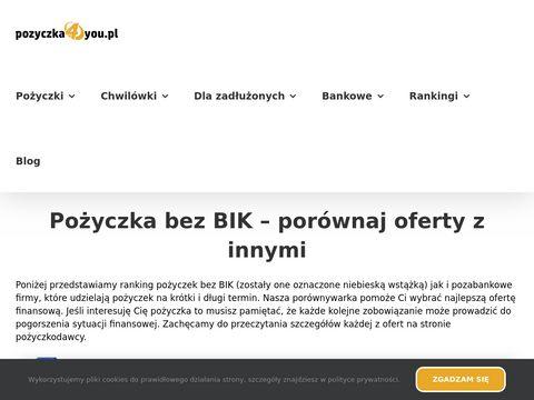 Pozyczka4you.pl gotówka bez pytania o bazy