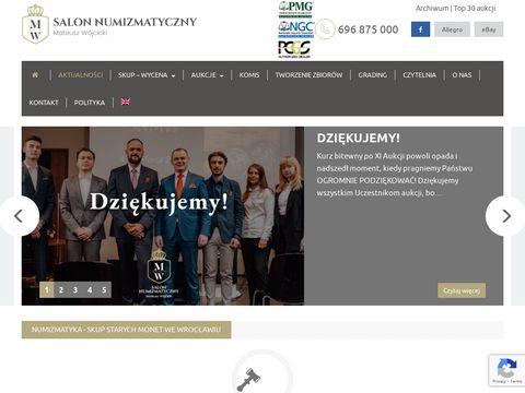 Snmw.pl salon numizmatyczny Mateusz Wójcicki