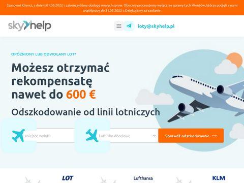 Skyhelp.pl opóżniony lot odszkodowanie