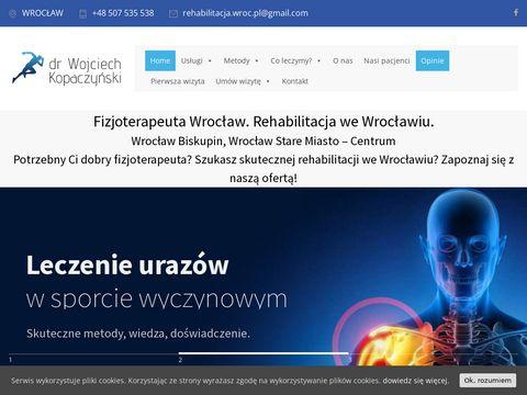 Rehabilitacja.wroc.pl fizjoterapeuta Wrocław