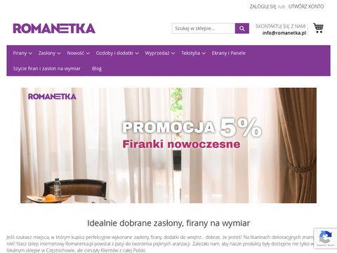 Romanetka.pl prześcieradła frotte